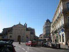 Eglise Saint-Denis -  La place Saint-Denis avant les travaux d'aménagement du tramway.