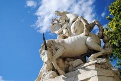 Fontaine des Licornes -  La fontaine des Licornes sur la place de la Canourgue à Montpellier.