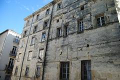 Ancien hôtel de Belleval, dit aussi Richer de Belleval ou Boulhaco, ou ancien hôtel de ville -  La façade Nord de l'hôtel de Belleval à Montpellier.