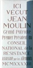 Ancien hôtel Rey - Français:   Plaque signalant le lieu d\'habitation de Jean Moulin, à Montpellier, Grand rue Jean Moulin.