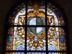 Hôtel de Saint-Côme - Català: Vitrall amb l'escut de Gange a l'Hôtel de Saint-Côme (Montpeller)