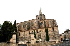 Eglise Saint-Saturnin - Français:   Nissan-lez-Enserune (Hérault) - église Saint-Saturnin - façade méridionale