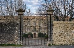 Ancien prieuré dit  château  de Cassan - Français:   Portail Ouest de l\'Abbaye de Cassan. Commune de Roujan, Hérault, Occitanie, France.