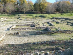 Oppidum d'Ambrussum -  Ambrussum is a Roman archaeological site in Villetelle, near Lunel, Hérault, the Via Domitia which led over the Pont Ambroix, ran at the foot of the settlement. Here we find a staging post complex.