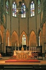Cathédrale Notre-Dame et Saint-Privat - Deutsch: Gotische Kathedrale Notre-Dame-et-Saint-Privat in Mende, eine Stadt mit etwa 12.000 Einwohnern im Département Lozère, Frankreich.