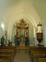 Eglise Notre-Dame - Català: Meitat de llevant de la nau, amb l'absis