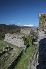 Fort de Bellegarde - Remparts du fort de Bellegarde, Fr-66-Perthus