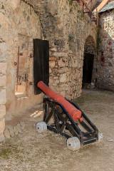 Fort Libéria (également sur commune de Fuilla) - English: Cannon, Fort Libéria, Villefranche-de-Conflent, Pyrénées-Orientales department, France
