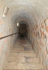 Fort Libéria (également sur commune de Fuilla) - English: Staircase to the