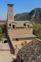 Fort Libéria (également sur commune de Fuilla) - English: Chapel, Fort Libéria, Villefranche-de-Conflent, Pyrénées-Orientales department, France