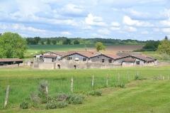 Centre rural gallo-romain (vestiges archéologiques) - Français:   Les thermes gallo-romains de Chassenon à Cassinomagus, commune de Chassenon, Charente, France S-O. Vue du complexe thermal depuis l\'ouest-sud-ouest, donnant sur l\'alignement des quatre grandes piscines du côté ouest avec, de gauche à droite (du nord au sud): caldarium (salle du bain chaud), sudatio (étuve sèche), et deux piscines chaudes. La première piscine chaud en partant du sud, et le caldarium, ont chacun une annexe: des schola labri, sortes de \