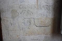 Château de François-Ier - Français:   Graffitis datant de 1756 situés dans une salle du Château de Cognac (Charente).