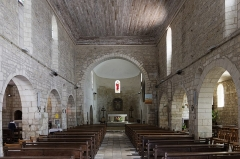 Eglise Saint-Vivien -  St. Vivianus Church Nave, Pons, Charente-Maritime, France