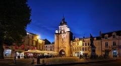 Porte de la Grosse-Horloge - Deutsch: Uhrenturmam Abend