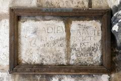 Tour Saint-Nicolas - Tour Saint-Nicolas: Anciens graffiti sur les murs de la tour. La Rochelle (Charente-Maritime, Nouvelle-Aquitaine, France).