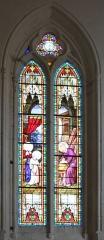 Eglise Saint-Jean-Baptiste - Église Saint-Jean-Baptiste, vitrail absidiole nord, Fr-17-Saint-Jean-d'Angle.