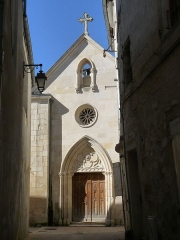 Ancien couvent des Jacobins et ancienne maison de Maurice Martineau, actuellement bibliothèque municipale - Français:   Chapelle St-Pierre, rue Mauny, Saintes, Charente-Maritime, France