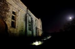 Ruines de l'ancienne abbaye - Français:   Vue extérieure du réfectoire du prieuré Saint-Jean-l\'Evangéliste de Trizay