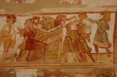 Ancienne église abbatiale - English:   Détails des peintures des voutes de la nef de l\'église abbatiale de Saint-Savin-sur-Gartempe