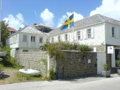 Maison Dinzey, dite Le Brigantin, à Gustavia - English: Consulate of the Kingdom of Sweden (building)