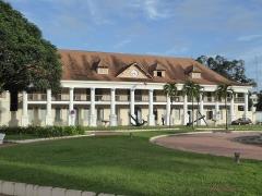 Couvent des Jésuites , ou ancienne Préfecture, ou Hôtel des Palmistes - English: Former Government House in Cayenne, French Guiana, begun 1729. It was originally a Jesuit residence.