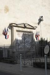 Synagogue - Deutsch: Gedenktafel bei der Synagoge (Lunéville in Lunéville im Département Meurthe-et-Moselle in der Region Grand Est (Frankreich)