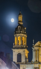 Cathédrale - English: Bell tower of the cathedral of Our Lady of Nancy, Meurthe-et-Moselle, France