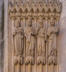 Basilique Saint-Epvre - English: Detail of the portal of the Saint Aprus basilica in Nancy, Meurthe-et-Moselle, France