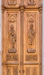 Basilique Saint-Epvre - English: Detail of the door of the Saint Aprus basilica in Nancy, Meurthe-et-Moselle, France