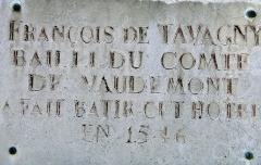 Hôtel de Tavagny - Français:   Vézelise - Hôtel de Tavagny - Panneau d\'information