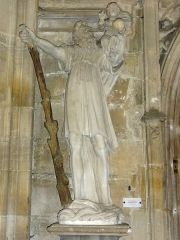 Eglise Saint-Etienne - Bar-le-Duc (Meuse) église St.Etienne, statue St.Christophe