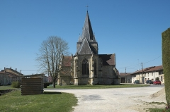 Eglise Saint-Médard - Deutsch: Kirche Saint-Médard in Rancourt-sur-Ornain im Département Meuse (Region Grand Est/Frankreich)
