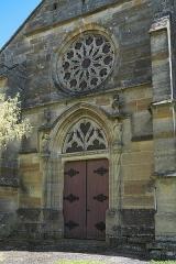 Eglise Saint-Médard - Deutsch: Kirche Saint-Médard in Rancourt-sur-Ornain im Département Meuse (Region Grand Est/Frankreich), Westportal