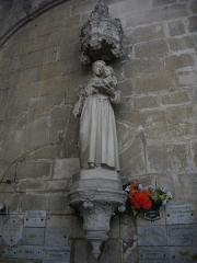 Ancienne abbaye - Église abbatiale Saint-Michel de Saint-Mihiel (Meuse, France). Statue de saint Anoine de Padoue