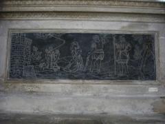 Ancienne abbaye - Église abbatiale Saint-Michel de Saint-Mihiel (Meuse, France). Relief: martre de sainte Catherine d'Alexandrie