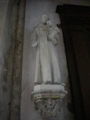 Eglise Saint-Etienne - Église Saint-Étienne de Saint-Mihiel (Meuse, France). Statue de saint Antoine de Padoue