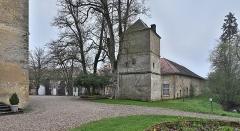 Domaine de Preisch - English: Dovecote of Preisch Castle  in the commune of Basse-Rentgen in the Moselle depatrment, France.