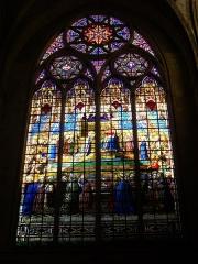 Eglise Saint-Vincent - Français:   Église Saint-Vincent de Metz (Moselle, France); vitrail représentant le Couronnement de la Vierge