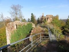 Ruines du château de Falkenstein -  Elsaß-Tour 2019-10-31 22 Chateau du Falkenstein