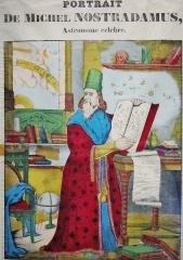 Imagerie Pellerin (bâtiments et machines qu'ils renferment) - Français:   Image d\'Epinal représentant Nostradamus. (Pellerin, XIXe siècle)
