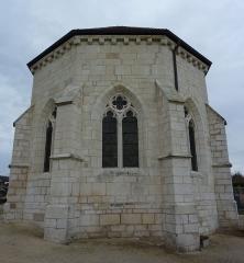 Chapelle du cimetière dite Chapelle Sainte-Libaire - English: Chevet of Saint-Libaire chapel, Grand, Vosges, France.