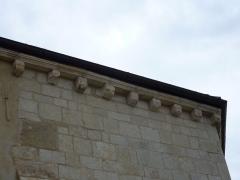 Chapelle du cimetière dite Chapelle Sainte-Libaire - English: Sculpted corbels of Saint-Libaire chapel, Grand, Vosges, France.