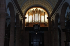 Eglise - Français:   Orgue de l\'église Saint-Luc de Raon L\'Etape, 44 jeux sur 3 claviers et pédalier. Construit par Joseph RINCKENBACH et inauguré en 1931 par Gaston Litaize. Endommagé en novembre 1944 par les bombardements américains, il t est réparé en 1955 par la manufacture ROETHINGER.