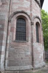 Petite église attenant à la cathédrale (Eglise Notre-Dame) - Deutsch: Kirche Notre-Dame in Saint-Dié-des-Vosges im Département Vosges (Region Grand Est/Frankreich), romanische Apsis
