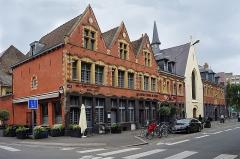 Hospice Ganthois -  L'Hospice Gantois (édifié en 1462) à Lille Nord (département français)