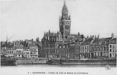 Hôtel de ville - Nederlands: Oude briefkaart van Duinkerke
