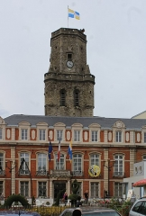 Beffroi - English: Boulogne-sur-Mer, town hall and belfry