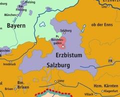 Maison dite de la prévoté - Deutsch: Karte des Fürsterzbistums Salzburg 1789 / Map Archbishopric of Salzburg 1789, Ausschnitt aus: