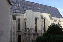 Abbaye Toussaint - Français:   Extérieur de l\'abbatiale Toussaint d\'Angers (49). Flanc nord.