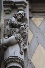 Maison d'Adam et Eve ou de l'Arbre de Vie - Extérieur de la maison d'Adam à Angers. Détail.